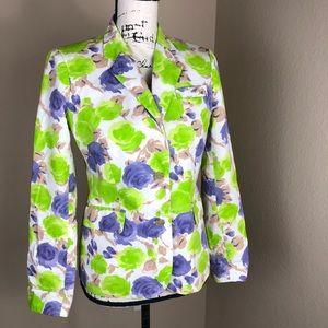 J. Crew Florida Floral Cotton Jacket Blazer 4